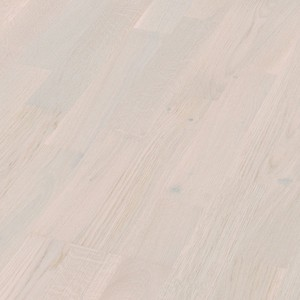 Parquet Arctic white oak lively, 3-strip, lacquered