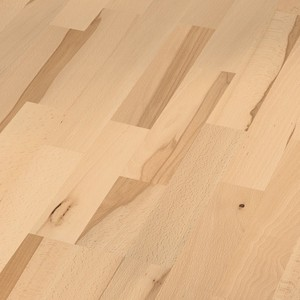 Parquet Beech lively, 3-strip, lacquered