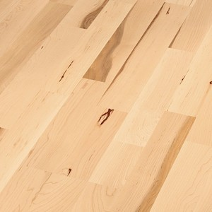 Parquet Canadian maple lively, 3-strip, lacquered
