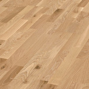 Parquet Limed oak lively, 3-strip, lacquered