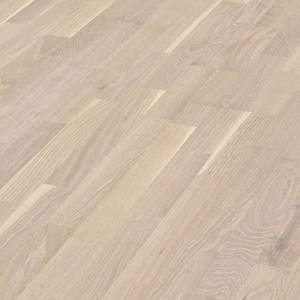 Parquet Limed white oak lively, 3-strip, lacquered
