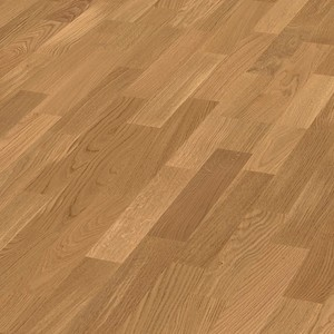 Parquet Oak harmonious, 3-strip, lacquered