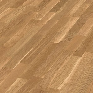 Parquet Oak lively, 3-strip, lacquered
