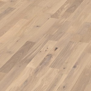 Parquet Pure oak lively, 3-strip, brushed, lacquered