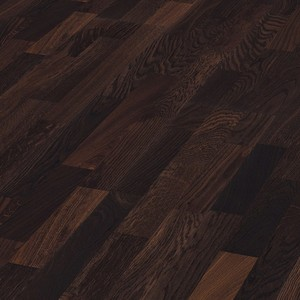 Parquet Smoked oak harmonious, 3-strip, brushed, lacquered