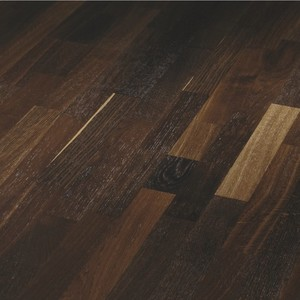 Parquet Smoked oak lively, 3-strip, brushed, lacquered