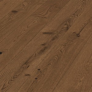 Floorboards Oak Rustic 2-layer, bevelled, brown oiled