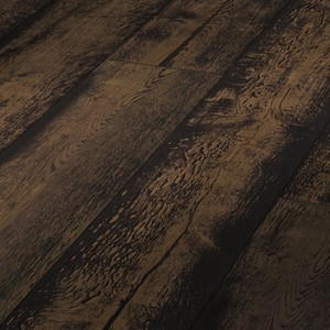 Parquet Meister Lindura Black washed rustic oak, brushed, 1-strip, naturally oiled