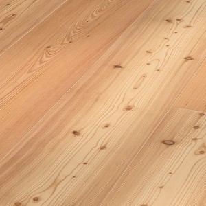 Parquet Meister Lindura Pure larch lively brushed, 1-strip, naturally oiled