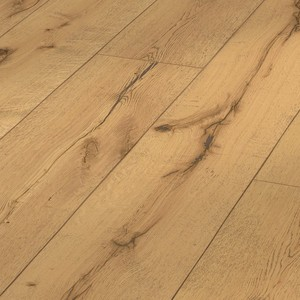 Parquet Meister Lindura rustic oak, brushed, 1-strip, naturally oiled