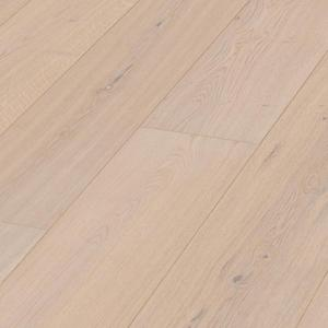 Parquet Meister Lindura Off-White oak lively, brushed, 1-strip, naturally oiled