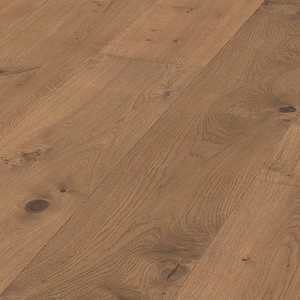 Parquet Meister Lindura Cappuccino oak lively 320mm, brushed, 1-strip, naturally oiled