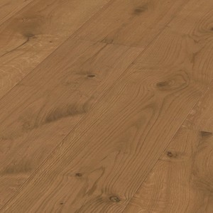 Parquet Meister Lindura Golden brown rustic oak 320mm, brushed, 1-strip, naturally oiled