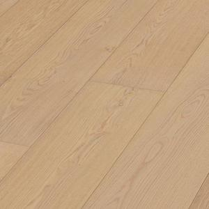 Parquet Meister Lindura Natural alabaster oak, brushed, 1-strip, matt lacquered