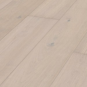 Parquet Meister Lindura Natural arctic white oak, brushed, 1-strip, matt lacquered