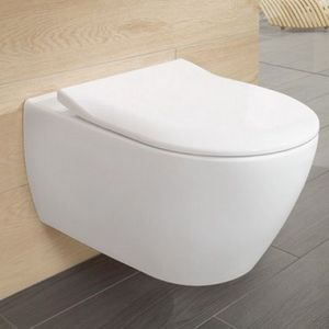 Seinä-WC Villeroy & Boch Subway 2.0 DirectFlush Slimseat Soft Close-kannella