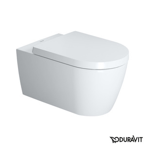 WC-laite seinämalli Duravit ME by Starck Rimless, Durafix, Soft Close - kannella