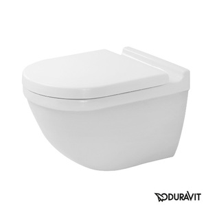Toilet wall-mounted Duravit Starck 3 Rimless, Durafix, with soft-close seat 45270900A1
