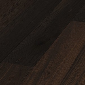 Parquet Smoked oak lively Meister, 1-strip, brushed, naturally oiled