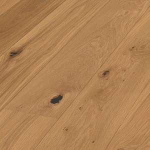Parquet Oak lively Meister, 1-strip, brushed, naturally oiled 260 mm