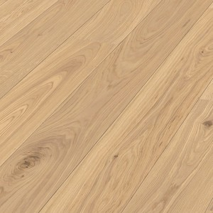 Parquet Meister Natural light oak lively, brushed, 1-strip, naturally oiled