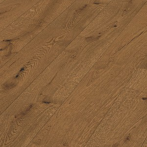 Parquet Meister Authentic antique brown oak, brushed, 1-strip, naturally oiled