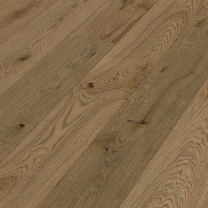 Parquet Meister Authentic brown-grey oak, brushed, 1-strip, naturally oiled