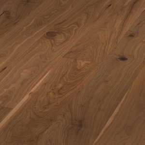 Parquet Meister American walnut lively, 1-strip, matt lacquered PD400