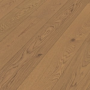 Parquet Meister Light brown oak lively, 1-strip, matt lacquered PD400