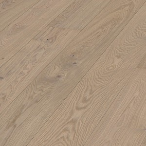 Parquet Meister Light grey oak lively, 1-strip, matt lacquered PD400