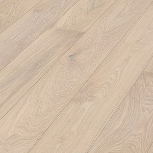Parquet Meister Limed off-white oak lively, 1-strip, brushed, matt lacquered PD400