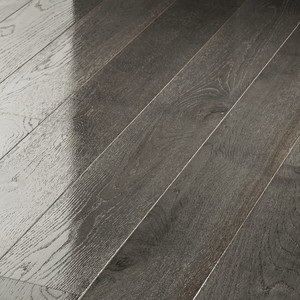 Parquet Meister Distinctive silver grey oak, 1-strip, brushed, high-gloss lacquered PD400