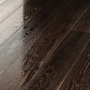 Parquet Meister Smoked oak lively, 1-strip, brushed, high-gloss lacquered PD400