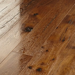 Parquet Meister Steamed oak canyon, 1-strip, brushed, high-gloss lacquered PD400