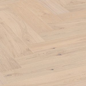 Parkett Tamm Limed off-white natural oak Meister, harjatud, 1 lipiline, matt lakk PS500 kalasabamuster
