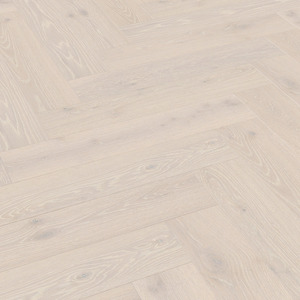 Parkett Tamm Limed white natural oak Meister, harjatud, 1 lipiline, matt lakk PS500 kalasabamuster
