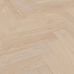 Parquet Meister Natural pearl oak, brushed, 1-strip, matt lacquered PS500 Herringbone