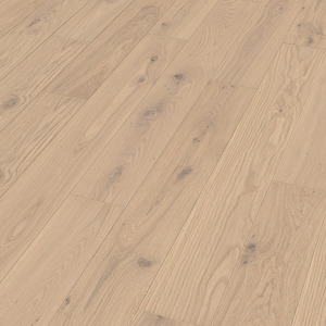 Parquet Meister Off-white oak lively, brushed, 1-strip, naturally oiled PS300