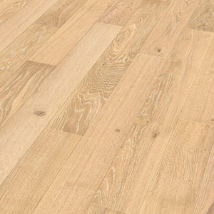 Parquet Limed cream oak lively Meister, 1-strip, matt lacquered PS300