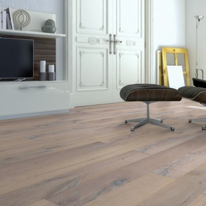 Parquet Oak Classic, 1-strip, brushed, white oiled