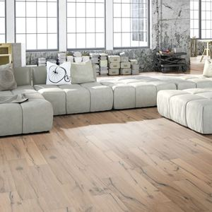 Parquet Oak Classic, 1-strip, brushed, hand planed, invisible oiled