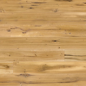 Parquet Oak, Piccolo Lager, 1-strip, beveled, brushed, UV hardened oil