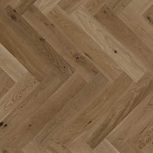 Parquet Oak, Piccolo Toffee, 1-strip, beveled, brushed, stained, natural oil, herringbone