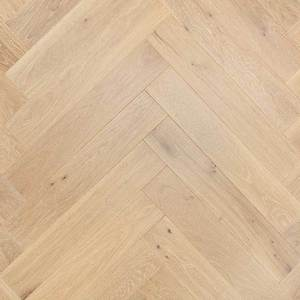 Parquet Oak, Piccolo Grissini, 1-strip, beveled, brushed, stained, matt lacquer, herringbone