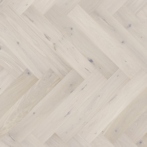 Parquet Oak, Piccolo Cappuccino, 1-strip, beveled, brushed, stained, matt lacquer, herringbone