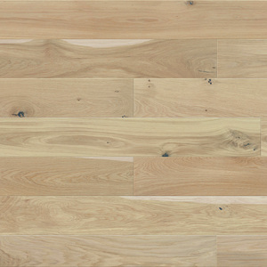 Parquet Oak, Medio Mont Blanc, 1-strip, beveled, stained, matt lacquer