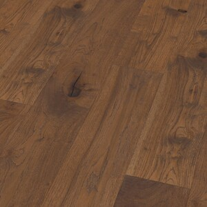 Parquet Oak Classic Dark, 1-strip wide floorboard, brushed, oiled