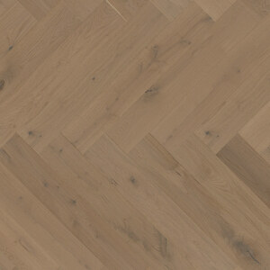 Parquet Oak, ter Hürne, Oak ochre brown, brushed, beveled, extra matt lacquered