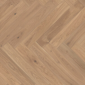 Parquet Oak, ter Hürne, oak light beige, herringbone, brushed, beveled, white natural oil-treated