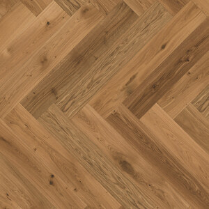 Parquet Oak, ter Hürne, oak, herringbone, brushed, beveled, natural oil-treated